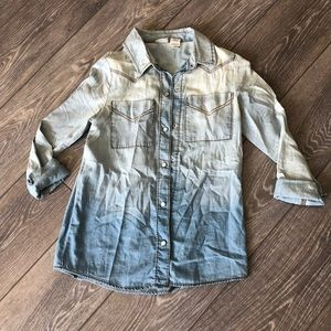 Ombré Chambray Top